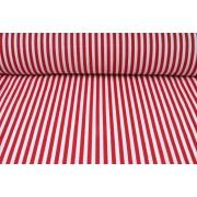 Plátno bavlněné, červené proužky, metráž, látky