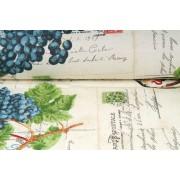 Plátno bavlněné, Provence, vintage potisk, motiv , metráž, látky