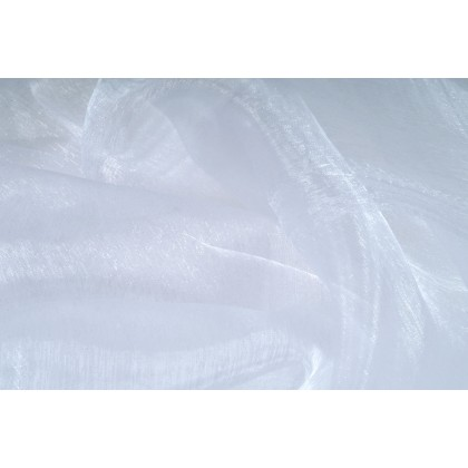 Organza bílá, látka, metráž šíře 150 cm, AKCE, SLEVA -50%,