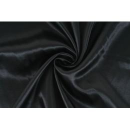 Satén, černá, látka, metráž - AKCE, SLEVA -50%