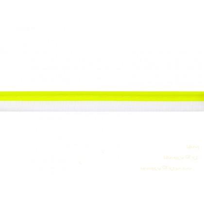 Paspulka, výpustek 10 mm reflexní žlutá, metráž