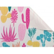 Batohovina, cordura s PVC zátěrem , vzor kaktus