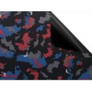 Batohovina, cordura s PVC zátěrem , vzor kamufláž modro červená