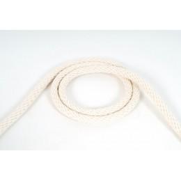Provaz, bavlněné lano pletené 12 mm, přírodní bílá, galanterie, metráž