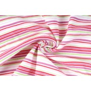 Úplet oboulíc, proužek jemný růžový, tričkovina, látky, metráž