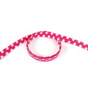 Popruh polypropylenový 20mm, růžový puntík, galanterie, metráž