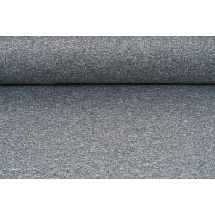 Softshell šedý melír,  metráž, látka funkční materiál