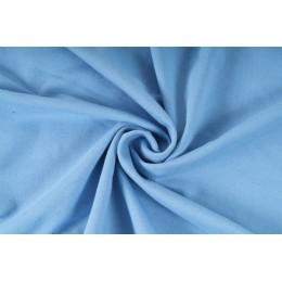 Elastická teplákovina nepočesaná, světle modrá, látky, metráž, šíře role 175cm