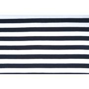 Úplet jednolíc, proužek 12mm modro bílý, tričkovina, látky, metráž